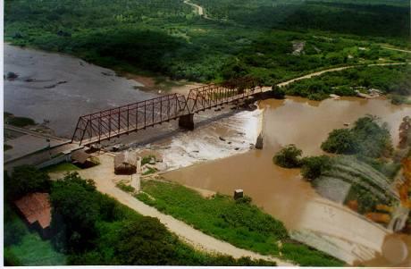 Vista aerea barragem Lima Brandão